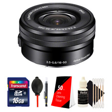 Sony SELP1650 16-50mm Power Zoom Lens and Accessories