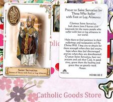 St. Servatius - Prayer (Patron of Foot & Leg Ailment)- Plastic stock Holy Card