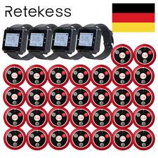Retekesst128 Restaurant Wireless Bedienung Funkrufsystem Sender 5wachempfängerde