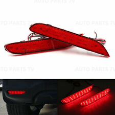 2x LED Rear Bumper Reflector Light Tail Fog Brake Stop Lamp Red Kit For Nissan