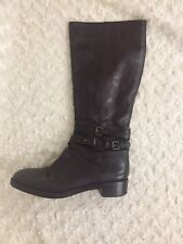 VIA SPIGA Brown Tall Leather side zip Riding Boots Women's Sz 9M