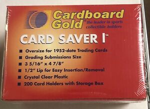 New Cardboard Gold Card Saver 1-200 Count PSA-BGS-HGA Holders-With Storage Box