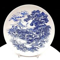 "ENOCH WEDGWOOD TUNSTALL COUNTRYSIDE BLUE ENGLISH SCENE 9 7/8"" DINNER PLATE 1966"