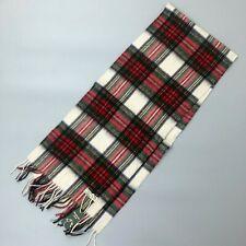 """New Men Unisex Dress Stewart Scottish Tartan WOOL Neck Scarf Stole 64"""" x 12"""""""