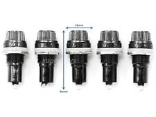 5pcs 12mm Thread Fuse Holder Socket Mount Welding Panel For Fuses 20mm Terminal