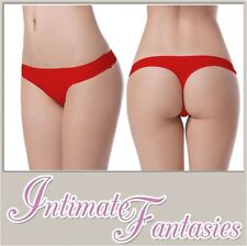 Sexy Red Black Seamless Thong No VPL Knickers Nylon Spandex Size 10 12 14 16 18