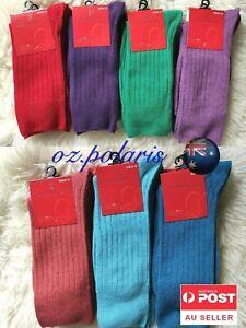 3 Pairs 2-8 90% MERINO WOOL LOOSE TOP SOCKS Medical Circulation assorted colors