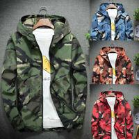 Men Winter Hoodie Soft Shell Camouflage Windproof Outdoor Sport Long Sleeve Coat