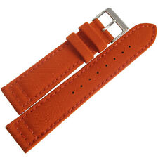22mm Hadley-Roma MS850 Mens Orange Cordura Canvas Watch Band Strap