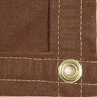 Sigman 12' x 20' Heavy Duty Cotton Canvas Tarp 18 OZ - Brown - Made in USA - New