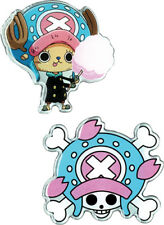 **Legit** One Piece Tony Tony Chopper & Jolly Roger Skull Metal Pin Set #50518