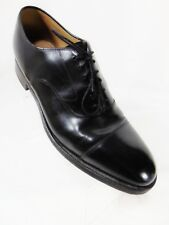 JOHNSTON & MURPHY Hand Crafted Men's Oxford Style Shoes Sz 9.5 D/B Black Cap Toe