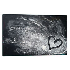 Cooker Cover Plates Glass Ceramic Cover Glass Splashback 80x52cm Flour, Heart