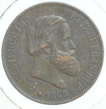 1869 20 Reis Brazil - Bronze - BN KM#474