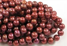 8-9 mm  Potato Freshwater Pearl Beads Dark Blue, Cranberry OR Champagne (#633)