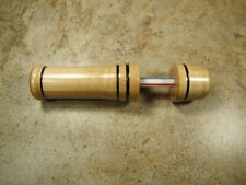 Ice fishing Rod Handle curly maple -w- brnt rings, (621br)