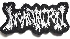 INCANTATION   SHAPED  WHITE LOGO EMBROIDERED  PATCH