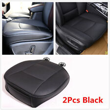 2X Black PU Leather 3D Full Surround Car Seat Protector Seat Cover Accessories