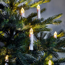 20 Battery Operated LED Flameless Christmas Candles with Tree Clips and Remote
