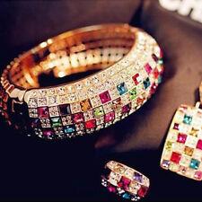 Chaud luxe femmes colorées strass cristal doigt éblouissante bague bijoux 1PC