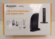 NEW LENOVO USB 2.0 PORT REPLICATOR WITH DIGITAL VIDEO 0A33942