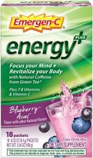 emergen c energy plus focus your mind revitalize your body 18 packets exp06/2020