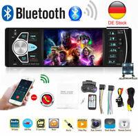 1DIN AUTORADIO MIT BLUETOOTH FREISPRECHEINRICHTUNG MP3 SD AUX USB Rückfahrkamera
