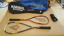 Prince Vision & Karakal MTXI145 Squash Racquets with Dual Carrying Case Nice