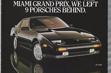 1988 NISSAN 300ZX advertisement, Canadian advert with GTP ZX race car