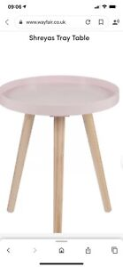 Wayfair Shreyas Tray Table Wood Pink £25.99