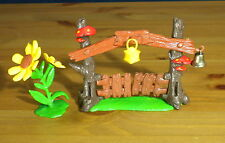 Smurfs Gate Playset Rare Smurf Village Vintage Toy Lot Flower Mushroom PVC 40050