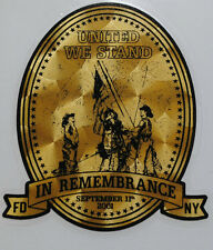 """Firefighter Decal, United We Stand,Gold Vinyl Decal, Fire Dept, 2.5""""wide  #FD110"""