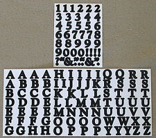Creative Memories Alphabet Letter ABC and number 123 stickers -Black
