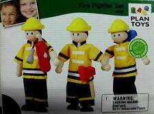 Plan Toys 7420 Holz Biegepuppen Feuerwehr Set Neu OVP