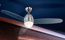 Ventilateur de plafond Éclairage de salon Lampe pendante Plafonnier Métal 53528