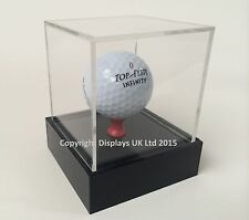 Perspex Acrylic Golf Ball Display Case With Raised Base - Sporting Memorabilia
