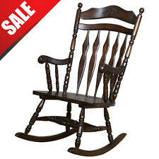 Wood Rocking Chair Vintage Chairs Antique Seat Furniture Swing Rocker Shaker NEW