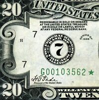 =1928 $20 FRN (( Rare STAR )) Chicago District Number 7 # G00103562*