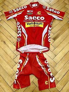 Cannondale Saeco Men's Cycling Set Jersey Bib Shorts Red Size S Mario Cipollini