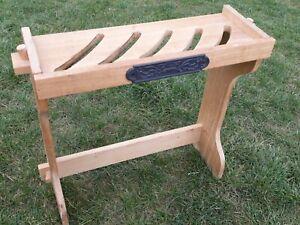 Vintage Le Creuset Wooden Pan Rack Stand For 5 PANS & LIDS Retro Wood Organizer