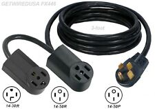 Y Adapter 14-50P Plug 14-50R 14-30R Receptacle Dual Splitter 2 Add Stove / Dryer