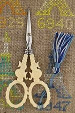 """Embroidery SCISSORS Sajou S Motif Mother of Pearl IVORY 4-1/2"""""""