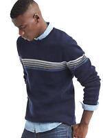 Gap  Ski chest-stripe crew sweater Sz XS Navy (1516)