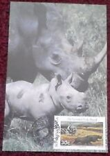 First day of issue, 1988 from Bophuthatswana Rhinoceros National Park, Max card