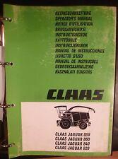 Claas Häcksler Jaguar 820 + 840 + 860 + 880 Betriebsanleitung