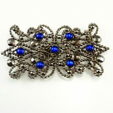 18th Century Georgian Jewelry Cut Steel Buckle Sapphire Paste Cabochon Wedding