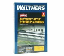 N Butterfly-Style Station Platforms Kit - Walthers Cornerstone #933-3258