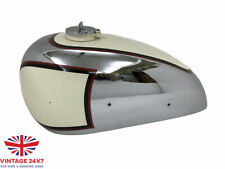 PANTHER M100 600cc PAINTED CREAM CHROME GAS FUEL TANK + CAP 1947-1953 |Fit For