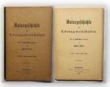 Naturgeschichte nach Lebensgemeinschaften 5. Heft 1898 Wissen Erde Natur xy