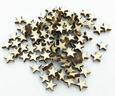 100pcs Wooden Blank Small Star Shapes Embellishments Crafts Scrapbooking AU